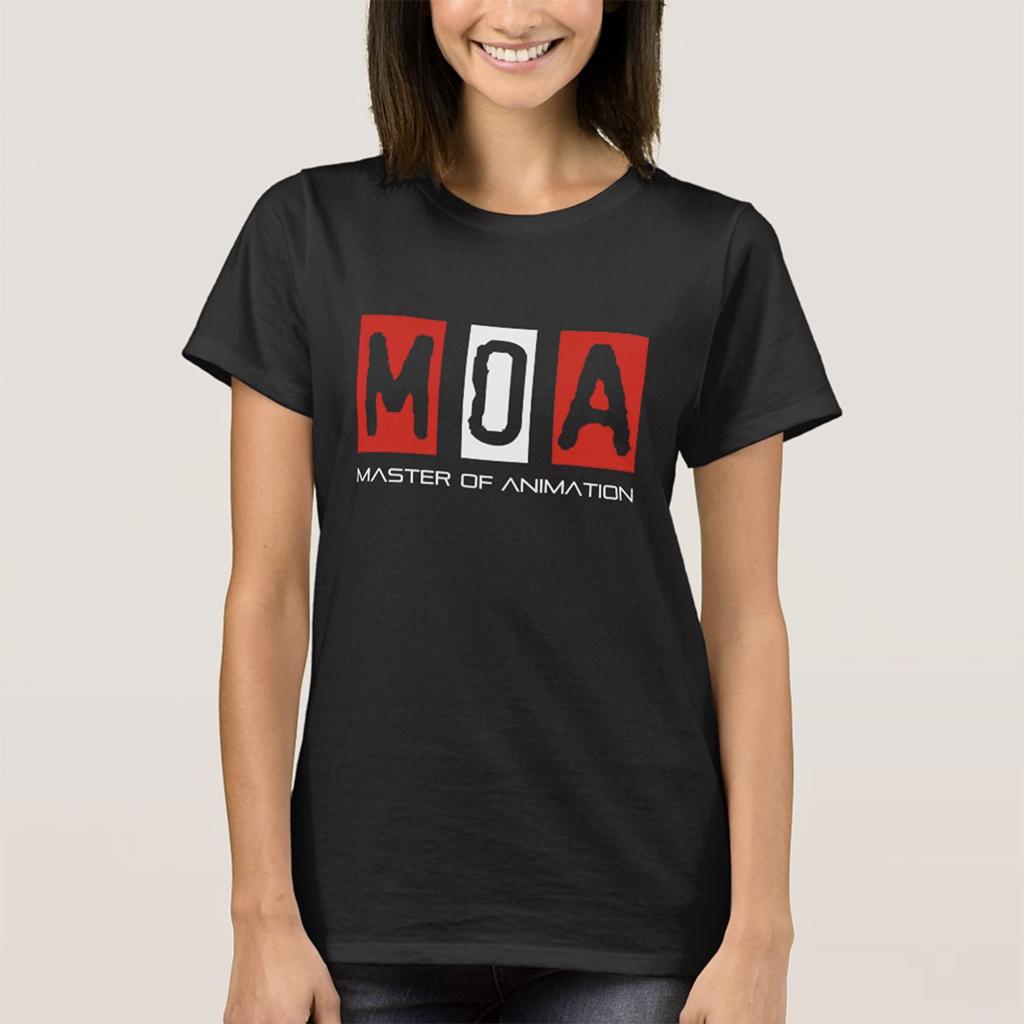 M.O.A Women's Basic 黑色T恤