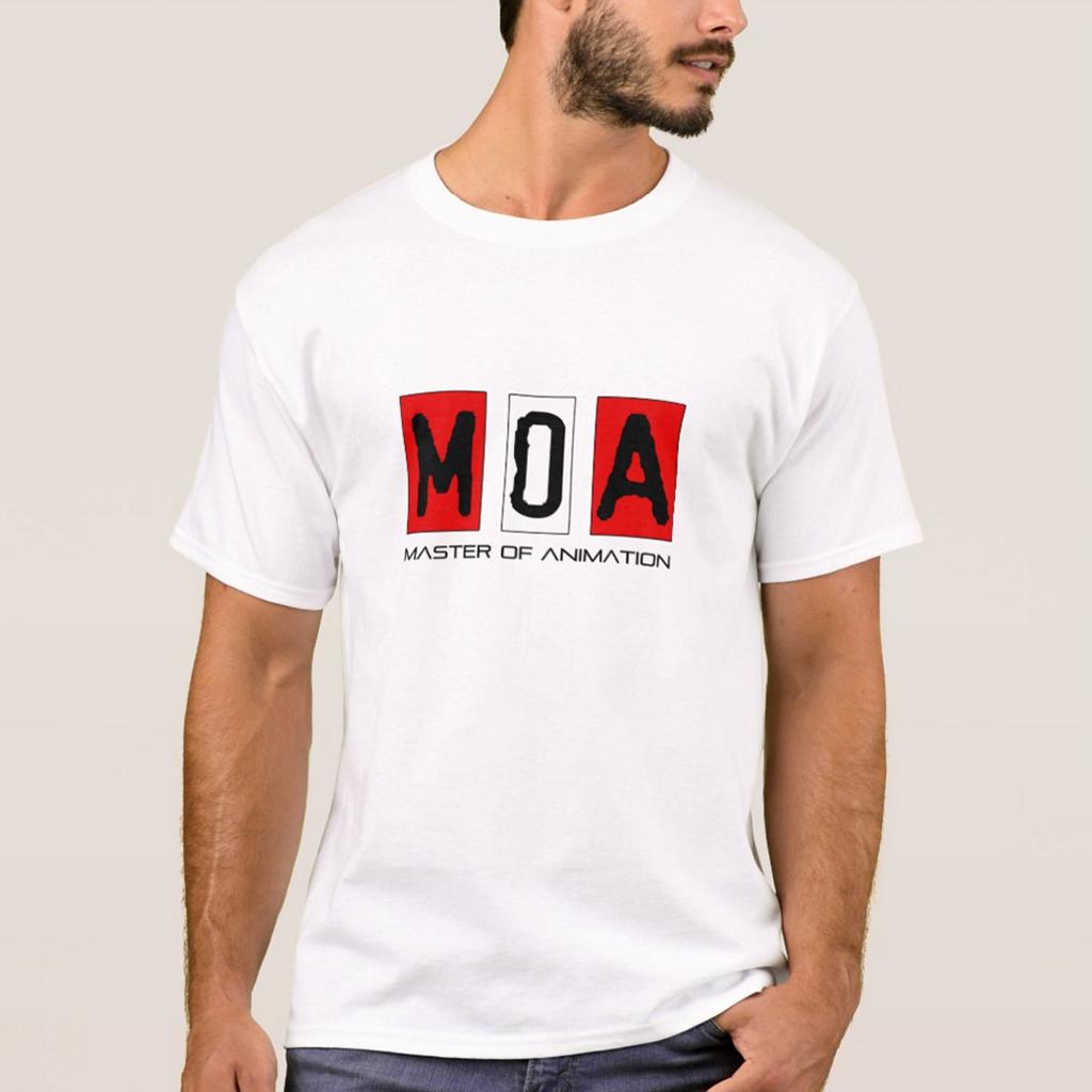 M.O.A Men's Basic 白色T恤
